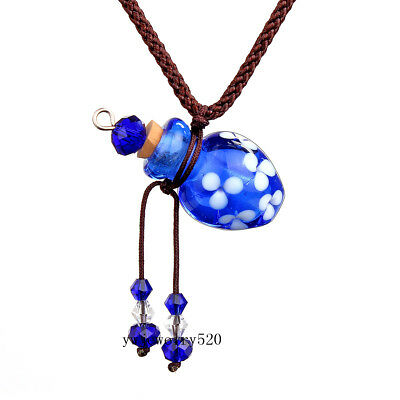 Royal Blue Oil Perfume Bottle Vial Necklace Fragrance Aromatherapy Diffuser New