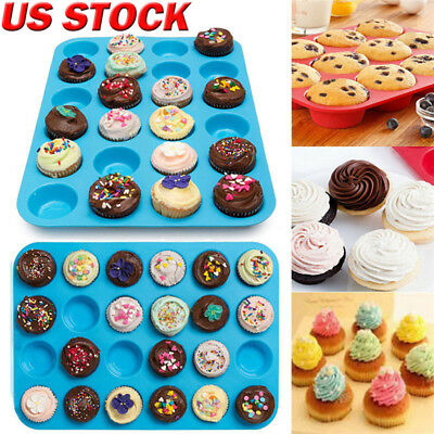 24 Holes Silicone Ice Candy Chocolate Cake Cookie Cupcake Soap Molds Mould