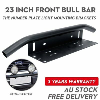 23'' Bull Bar Front Bumper License Plate Mount Bracket LED Light Holder Offroad