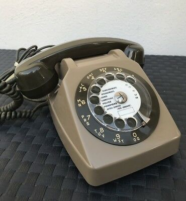 ancien vintage TELEPHONE PTT ericsson S63 1969 PTT old phone