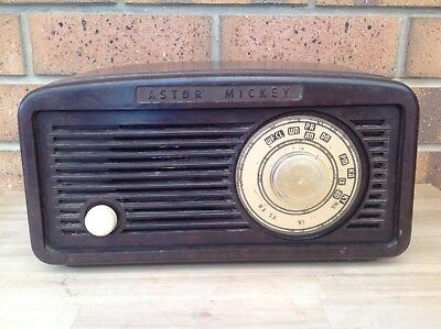 Vintage Bakelite Astor Mickey Valve Radio, Radios, Bakelite, Music, Collectable