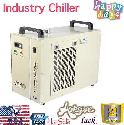 CW-5000 Industrial Water Chiller for 80W / 100W / 120W CO2 Laser Tube 110V 60HZ