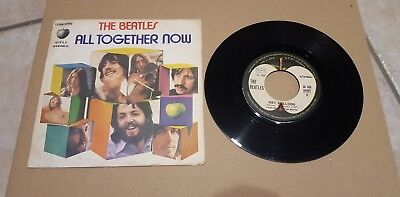 """The Beatles - All Tougether Now / Hey Bulldog - 3 C006-04982 7"""" Italy"""