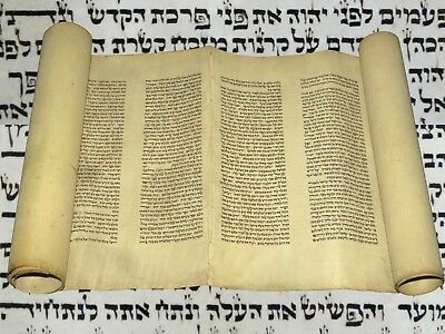 "RARE BIBLE MANUSCRIPT VELLUM LEAF ""Book of Leviticus""  250-300 YRS OLD GERMANY"