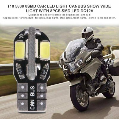 T10 5630 8SMD Car LED Light Canbus Show Wide Light with 8pcs SMD LED DC12VPG