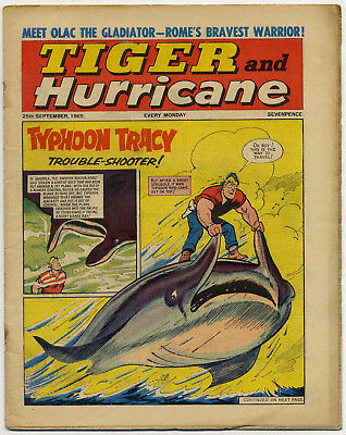 Tiger 25th Sept 1965 (Jet-Ace Logan, Olac the Gladiator, Roy of the Rovers...)