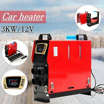 3KW 12V ALL IN ONE Air Diesel Heater 4 Holes LCD Switch For Truck Boat Bus CarL5