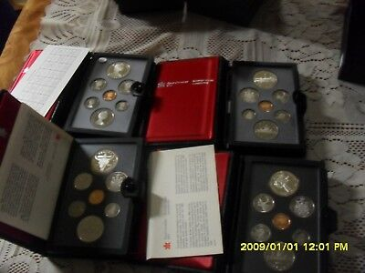 1982, 1983, 1984, 1985 Canadian Double Dollar Proof Sets COA