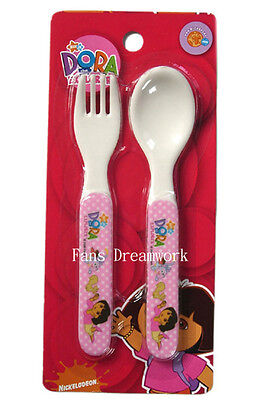 New Dora the Explorer  flatware spoon & fork cultery set  tableware