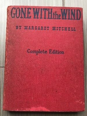 Gone With The Wind By Margaret Mitchell, 1940 Complete Edition