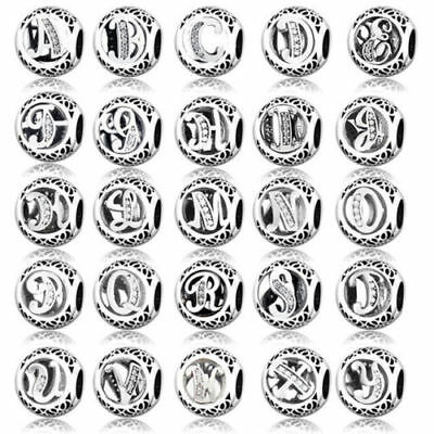 SALE! New Pandora Sterling Silver Vintage Letter Initial Alphabet Charm A to Z