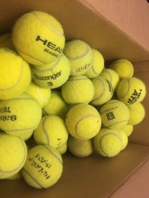 100 Used Premium Tennis Balls For Crafts, Sports, Dogs. Best Selling