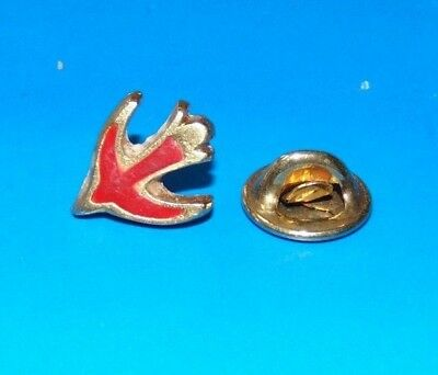 Red Dove Bird of Peace and Love Lapel Pin