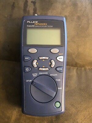 FLUKE NETWORKS CIQ-100 CABLEIQ QUALIFICATION TESTER Replacement Meter Only.