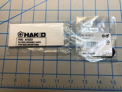 Genuine Hakko A1033 pack of 10 Round Filters & A1217 Gasket for Desoldering Tool
