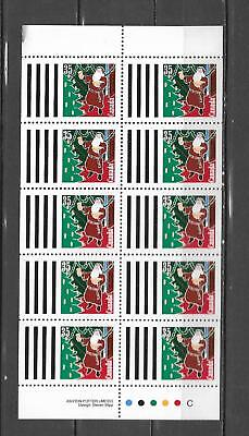 pk39936:Stamps-Canada #1342a Christmas 35 cent Booklet Pane-Mint Never Hinged