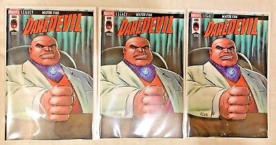 Lot of 3 Daredevil #600 Variant Edition VF/NM Marvel Fisk VERY RARE! 3000 MADE!