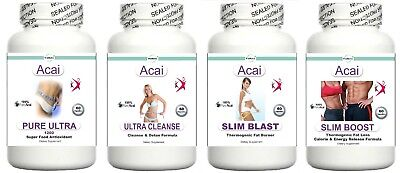 T5 Acai Diet Pills Detox Cleanse Fat Burner Cleanser Lose Weight Loss Tablets 4