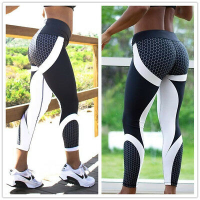 Womens Sport Compression Fitness Leggings Running Yoga Gym Pants Workout Wear