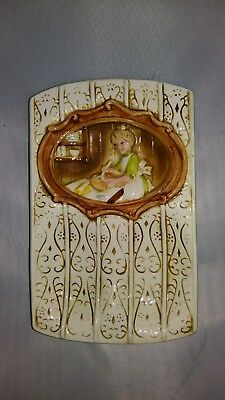 "Vintage Ceramic 1978 Sears Roebuck ""pioneer Woman"" Spoon Rest"