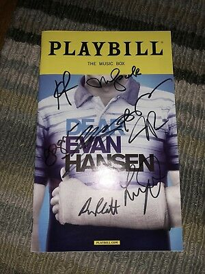 Dear Evan Hansen Signed Playbill by Ben Platt & OBC