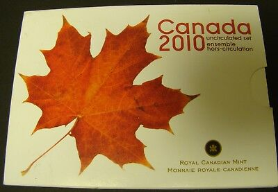 2010 CANADA UNCIRCULATED SET  Canadian Mint RCM   Foreign 7-Coin Set