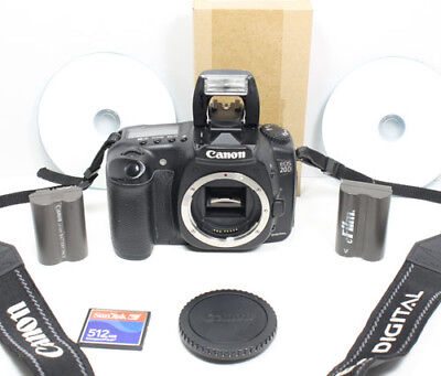 Canon EOS 20D Digital SLR body with Battery, Software, Charger, CF card, strap