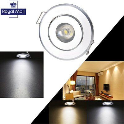 10Pcs LED Recessed Spot Lights Cabinet Mini Lamp Ceiling Downlight 1W