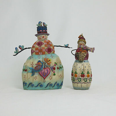 """Winter's Song"" by Jim Shore, Snowman 2003 Heartwood Creek Enesco #112250 +1"