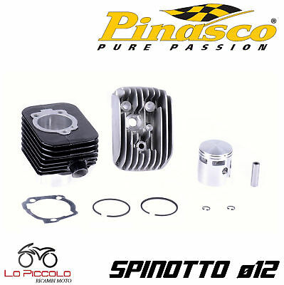 Cylinder Thermal Unit Rolls Black Aluminum 75 Cc Sp 12 Piaggio Ciao