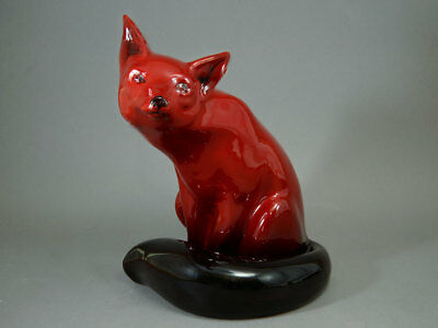 "Large 9.25"" Royal Doulton Red Flambe Fox 102"