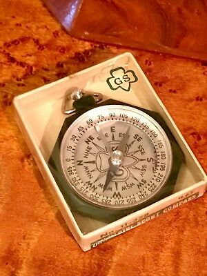Vintage Girl Scout Compass Made in Rochester by Taylor Original Box Unused