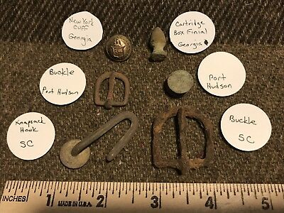 6 Mixed Dug Items ~ Nice NY Cuff Button
