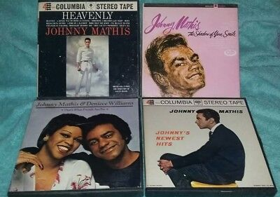 Set of 4 Johnny Mathis Reel To Reel Tapes
