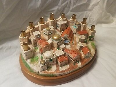 Lights over the City of David Menorah Rare Discontinued Limited Edition