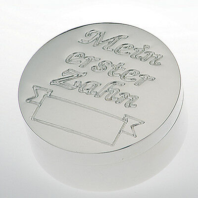 Christening Birth Gift Silver Plated Box My First Tooth Capable of Engraving