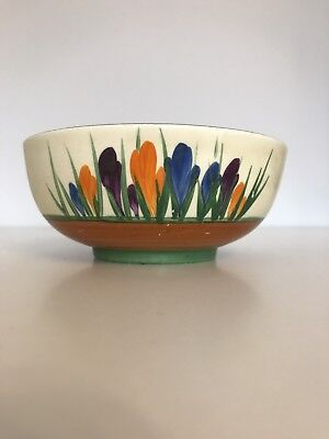 ORIGINAL 1930's CLARICE CLIFF BOWL  IN THE CROCUS PATTERN