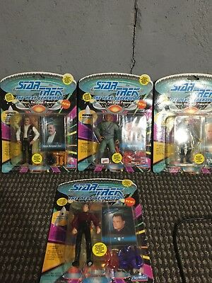 Star Trek The Next Generation  Lot Of (4) Action Figure Playmates 1993