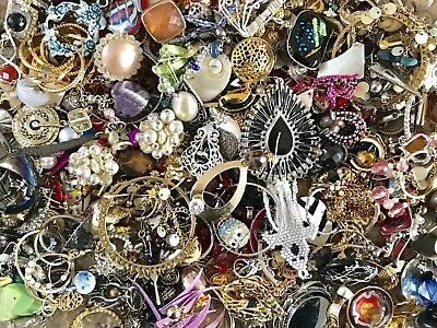 Large Vintage To Now Single Earring Lot 2.5+ Lbs Estate Rhinestones Craft E48