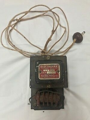 Antique Electrical Products Company Detroit Electropak Pats. Pending