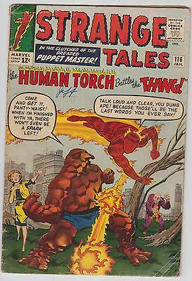 Strange Tales # 116, Human Torch, The Thing, Fantastic Four
