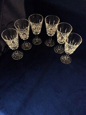 Set of six wine glasses in the Tyrone Irish crystal Rosses pattern not stamped