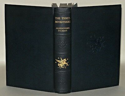 THE THREE MUSKETEERS BOOK ALEXANDRE DUMAS, DATED 1933  hardback 85 YEARS OLD
