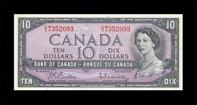 1954 BANK OF CANADA QEII $10 **Beattie & Rasminsky** ~Cons 1 of 2~ (( GEM UNC ))
