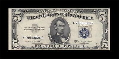 1953-B United States Silver Certificate $5 (( Ef+ ))