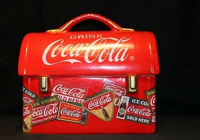 Coca Cola Red Lunch Box Cooke Jar Canister by Gibson