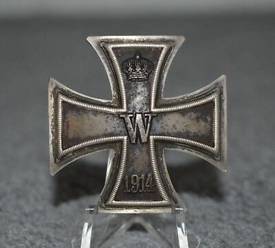 WWI 1914 Iron Cross 1st Class, Vaulted, Screwback, 800 Silver