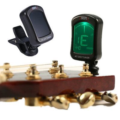 Aroma LCD Clip-on Electronic Digital Guitar Tuner for Chromatic Bass Ukulele