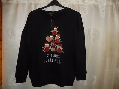 Ladies New Look Maternity 'SEASONS TWEETINGS' Christmas Jumper *Size 8* BNWT