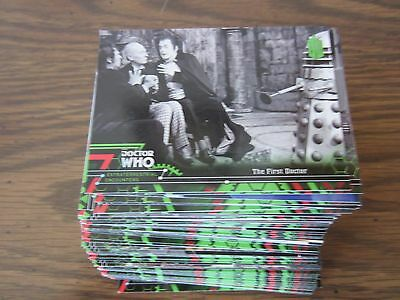 Doctor Who Extraterrestrial Encounters Complete 100 Base Card set